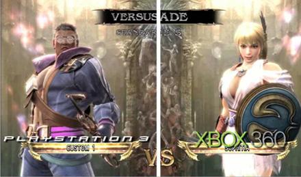5964 - Soul Calibur IV rodando no Xbox 360 e no Playstation 3: qual videogame se sai melhor?