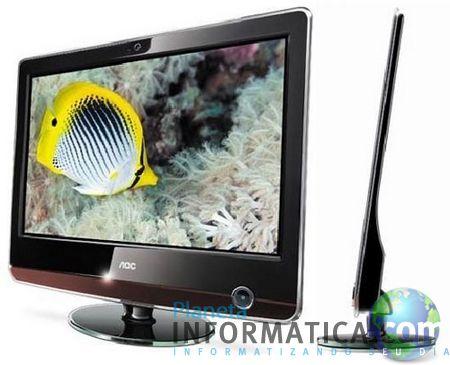 aoc 12mm - AOC lança monitor de 12mm de espessura