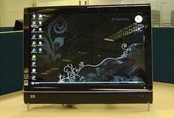 hp touch - HP lança PC com tela de TOQUE