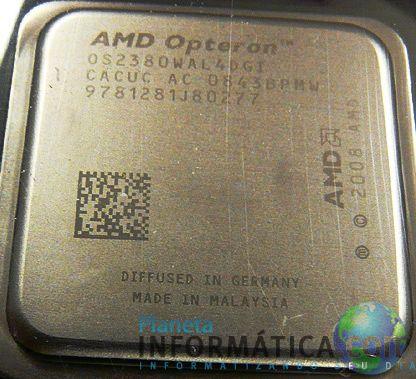 """opt 031 - Fotos das embalagens e do processador Opteron """"Shanghai"""""""