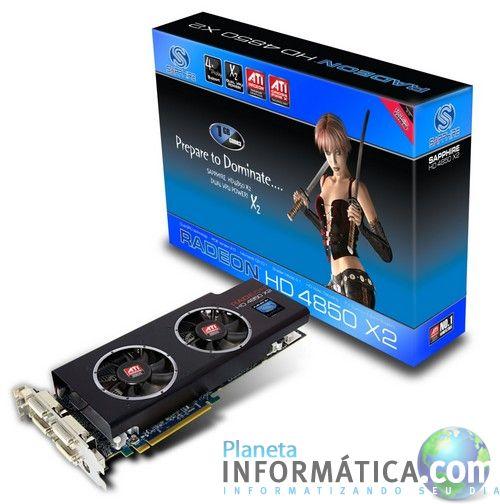 sapphire 4850 x2 - Sapphire apresenta oficialmente a sua Radeon HD 4850 X2
