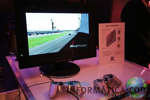 sony gran turismo - Sony exibe uma tela FED de 19' rodando Gran Turismo a 240fps