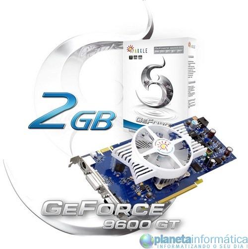 geforce 9600gt 2gb - GeForce 9600 GT com 2 GB de memória da Sparkle