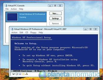 virtual pc 2007 tela - Como instalar e rodar o Windows XP em um PC já tenha o Vista