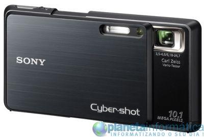 camera sony g3 right open - [CES 09] Uma câmera compacta da Sony com Wi-fi e navegador