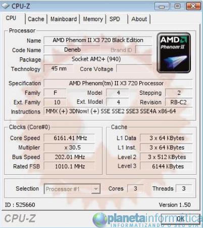 imagen 1 - Overclock: AMD Phenom II X3 720 + LN2 = 6,16 GHz