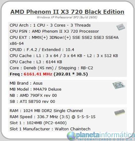 imagen 2 - Overclock: AMD Phenom II X3 720 + LN2 = 6,16 GHz