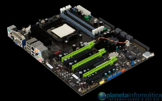 nforce 980a sli 3qtr med - Primeiras imagens da nova placa mãe nForce 980a SLI de NVIDIA