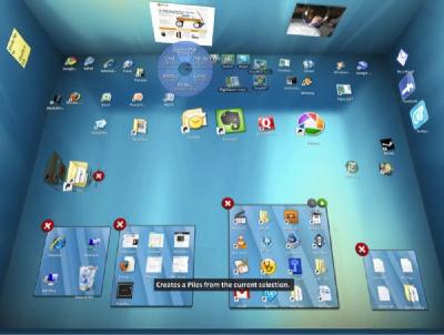 bumptop desk2 600 - Bumptop, interface táctil para Windows
