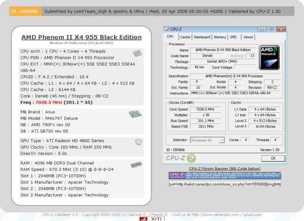 955q.thumbnail - AMD Phenom II X4 955 @ 7.2ghz