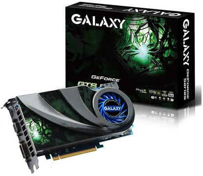 galaxy new gts250 - Galaxy lança uma GeForce GTS 250 com boas memórias