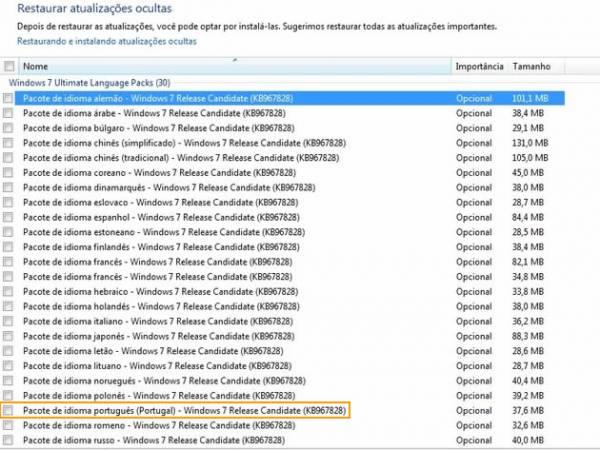 imagem pacote idiomaswin702.thumbnail - Windows 7 RC - Language Packs no Windows Update