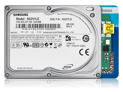 """18250gb - Samsung acaba de fabricar o primeiro HD 1,8"""" de 250 GB"""