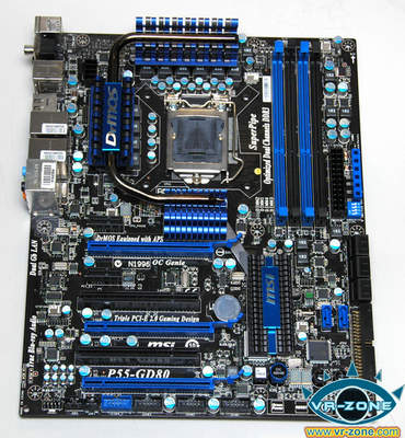 MSI P55 GD80E 3 215643 3 - Detalhes da P55-GD80 da MSI