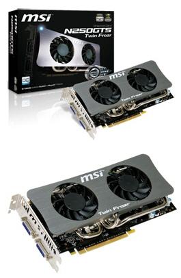 """MSI N250GTS Twin Frozr 01 - MSI lança duas GeForce GTS 250 """"Twin Frozr"""""""