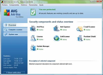 imagem avg8 small - AVG Anti-Virus Free 8.5.392a1598