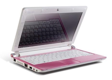 Acer Aspire D250 rosa - Acer Aspire D250 edição limitada
