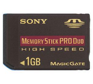 Sony Memory Stick Pro Duo 1 - Sony aumenta a capacidade dos cartões Memory Stick