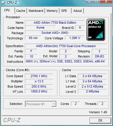 athlon 7750 black edition cpuz - CPU-Z v1.52.2