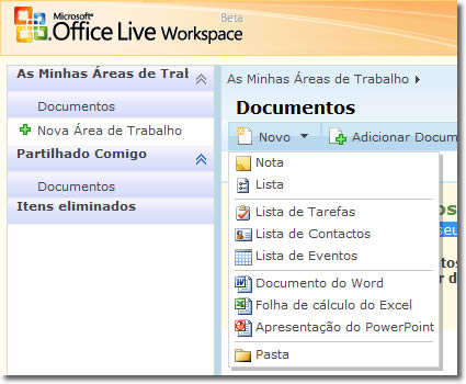 imagem microsoft office live workspace02 small - Microsoft Office Live Workspace (Beta)