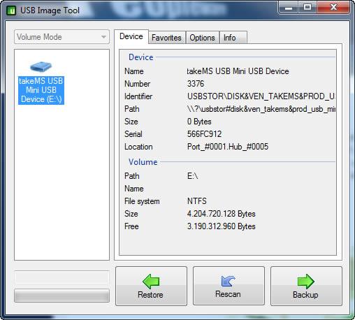 imagem usb image tool - USB Image Tool 1.50