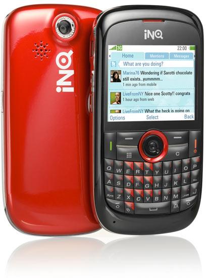 inq chat - INQ Mini e INQ Chat, Celulares Feitos Sob Medida para Twitter e Facebook