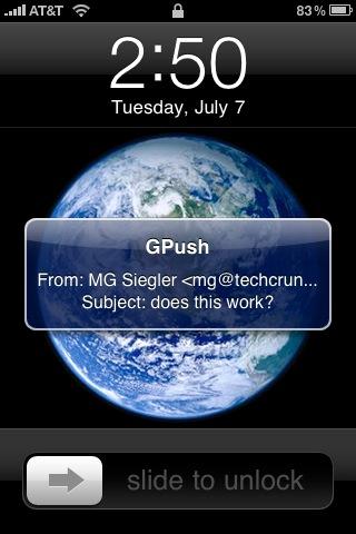 iphone gpush - Apple libera app com Push Notifications para Gmail
