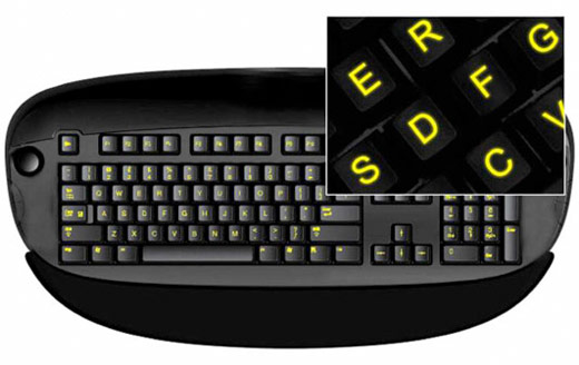 Glowing Keyboard Sticker - Ilumine seu Teclado!
