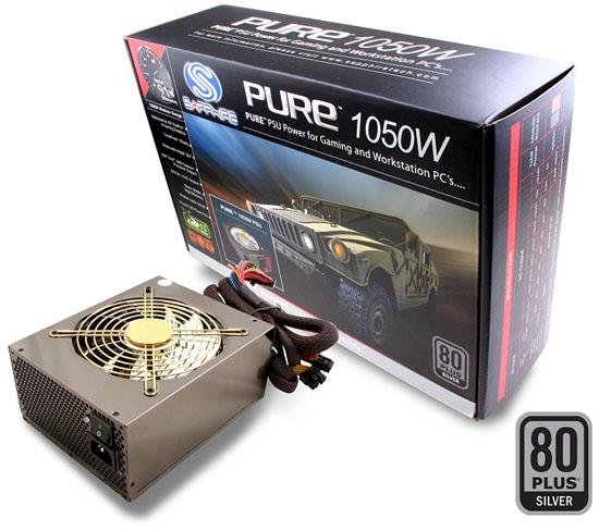 Sapphire PURE 1050W PSU 01 - Sapphire anuncia fontes de alimentação Pure