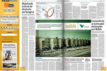 Folha de S. Paulo inaugura jornal digital