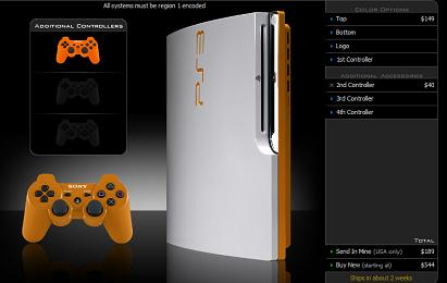 ps3 slim color - Loja pinta PlayStation 3 Slim ao gosto do freguês
