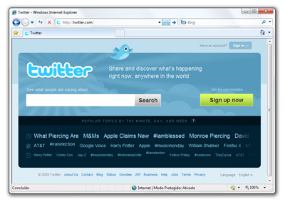35943 01 - Twitter terá versão em português