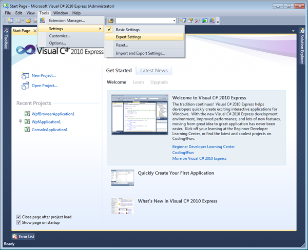 36741 011 - Microsoft Visual Studio 2010 Express Beta 2