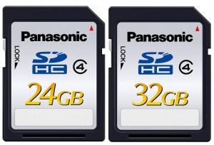 Panasonic apresenta cartões de memória SDHC de 24GB e 32GB