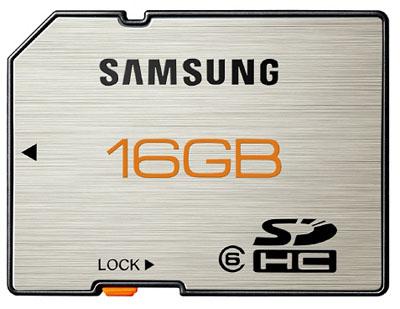 Samsung 16GB SDHC card 01 - Samsung lançará pela primeira vez cartões de memória