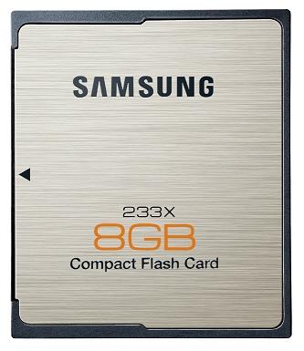 Samsung 8GB CF card 01 - Samsung lançará pela primeira vez cartões de memória