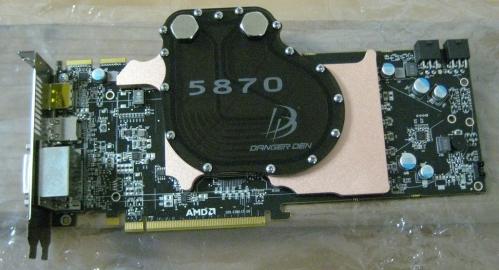 dangerden 5870wb 2 - Danger Den mostra seu bloco de água para HD 5870.