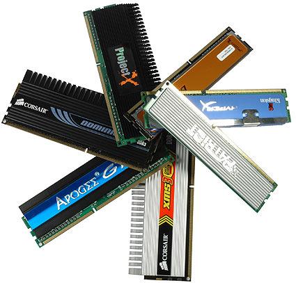 intro - Falta de estoque de cor DDR2 e DDR3 até 2010.