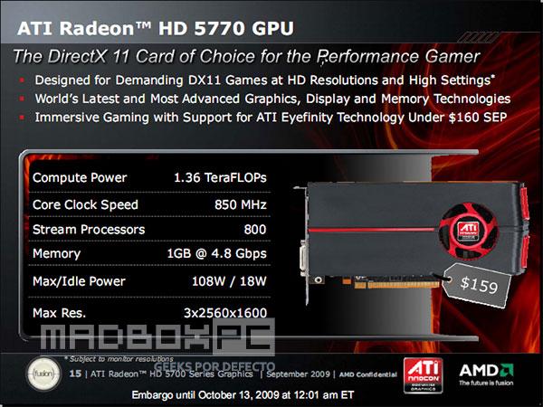 slide 15 - Fotos e especificações oficiais AMD Radeon HD 5750 e HD 5770