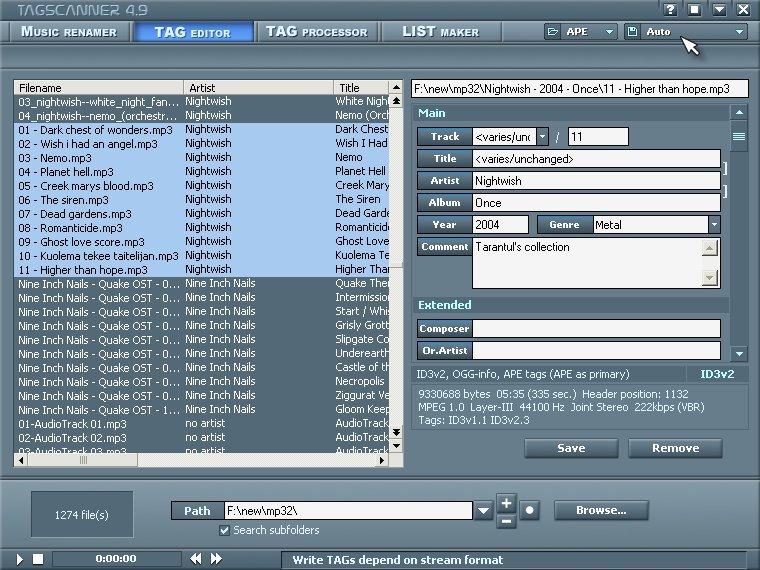tagscanner24d265e5cu0 - TagScanner v5.1.553