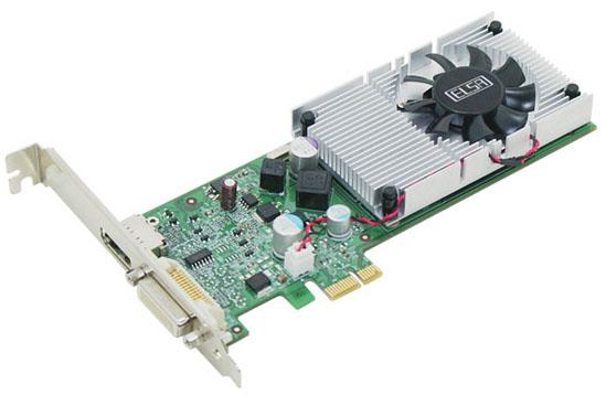 ELSA Gladiac 210 PCIe x1 01 - ELSA tem uma GeForce 210 PCIe x1.