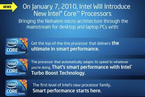 intel ces2010 presentation - Intel Westemere em 32 nanómetros