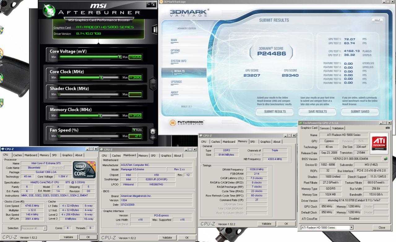 msi radeon HD5870 1380mhz 02 - MSI Radeon HD 5870 overclockeada a 1380Mhz