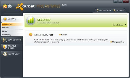 Avast 5 - Disponível Avast Antivirus 5.