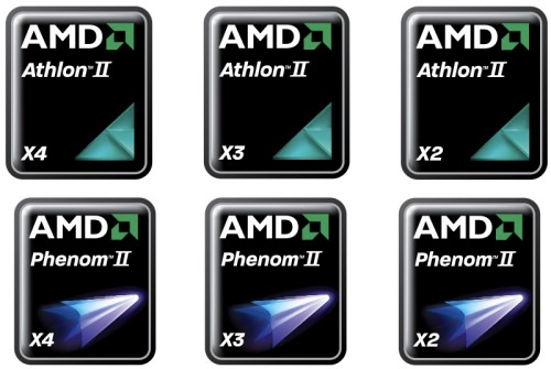 amd athlon phenom logos - Novos AMD Athlon II e Phenom II
