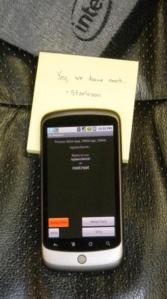 opusroot - Google Nexus One hackeado antes de sua saída