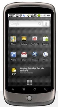 nexus one multitactil - O Nexus One se aponta ao multitáctil com uma atualização