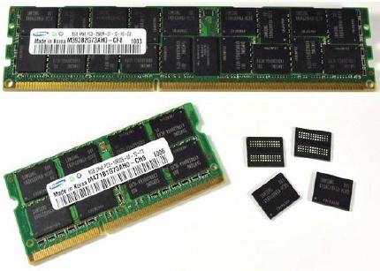sam01 - 4 Gb de memória DDR3 Samsung 40nm