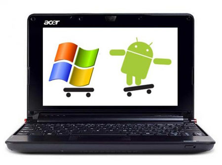 acer android netbook1 e1270093837726 - Acer Aspire One D260, dual-boot