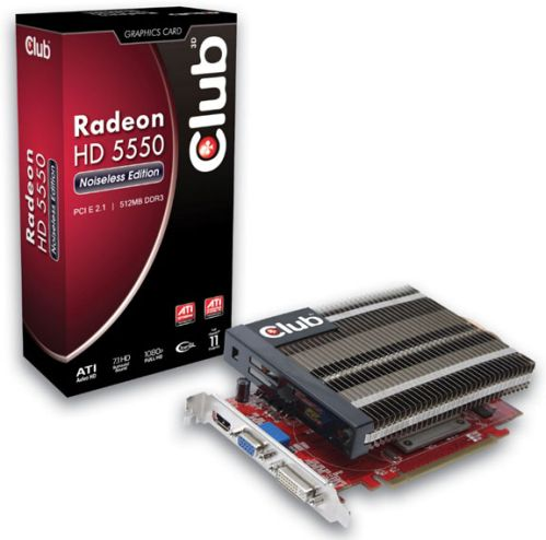 club3d hd5550ne 1 - Club3d acaba de anunciar a nova Radeon HD Noiseless Edition 5550